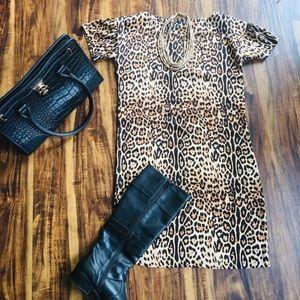 Joe Fresh Leopard Print Shift Dress -XSP